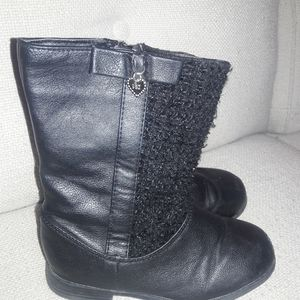 Toddler girls sz 10 Flowers by Zoe blk boots